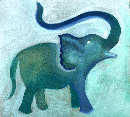 elephant illustration by Limor Farber