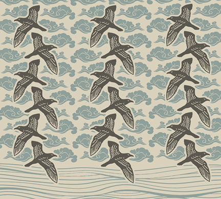 shearwaters surface pattern illustration and design by Limor Farber