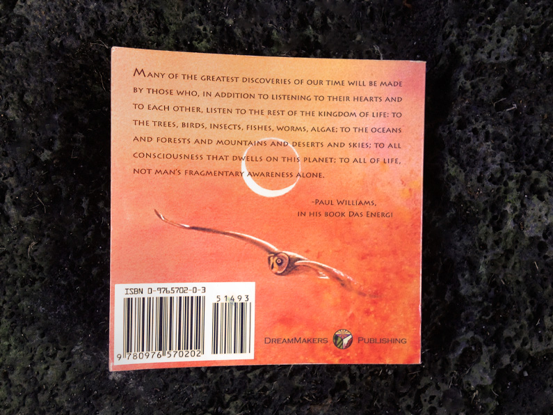book design: Voices of the Earth - back cover