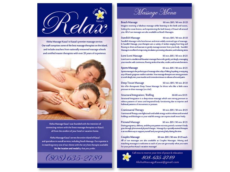 brochure design: Aloha Massage