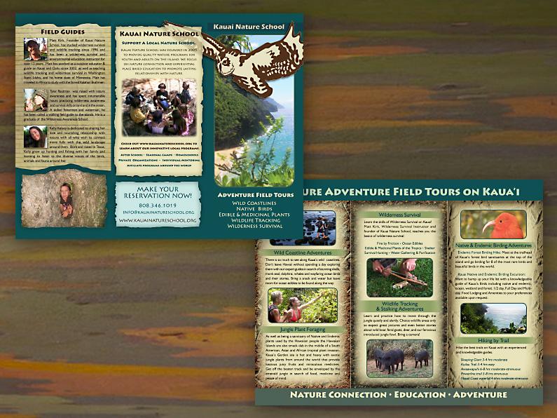 brochure design: Kauai Nature School