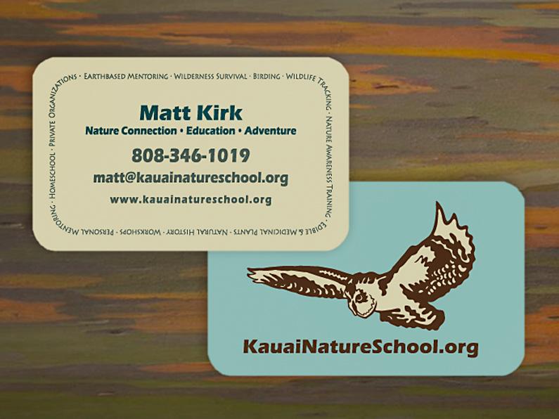 business card design: Kauai Nature School