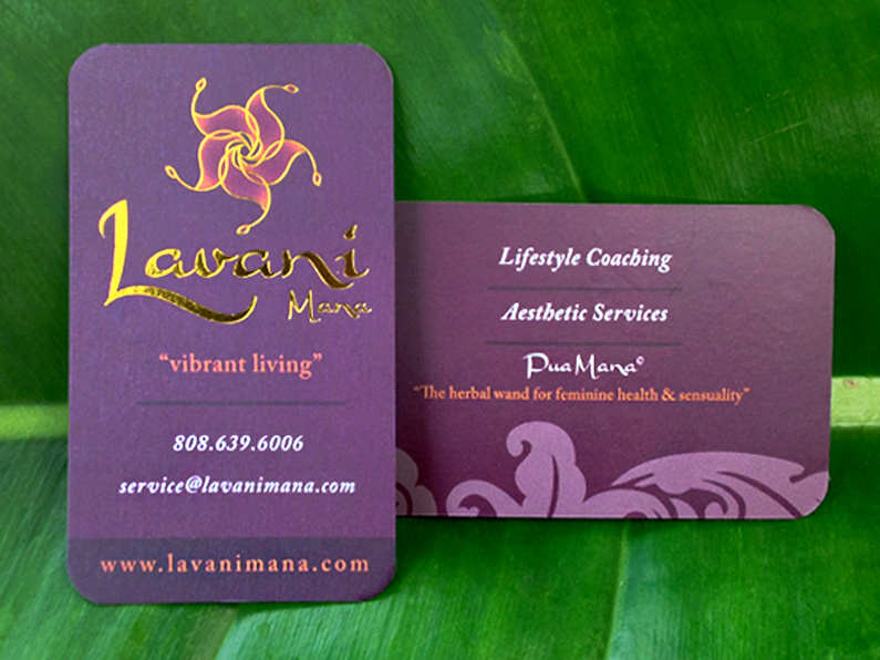 business card design: Lavani Mana