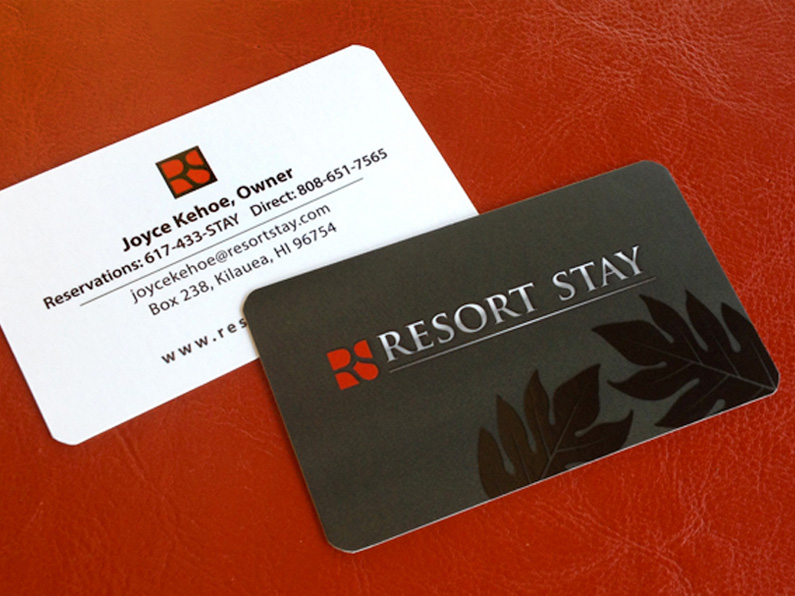 business card design: Resort Stay