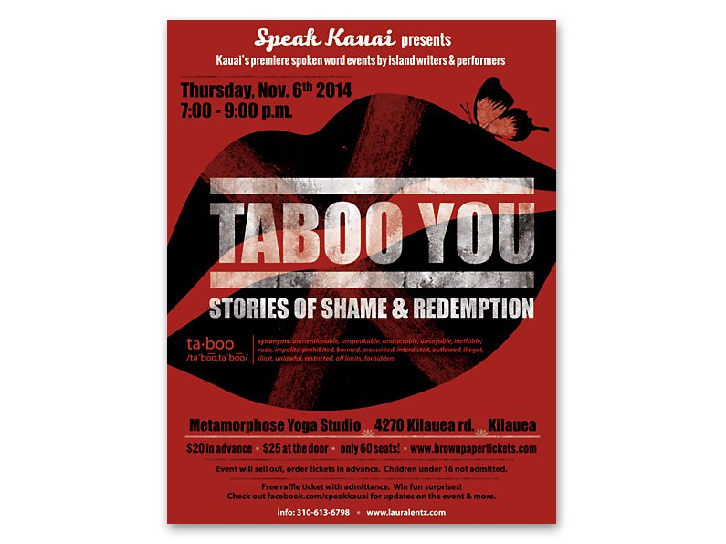 Event Poster Design: Taboo You