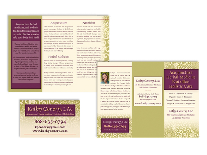 brochure design: Kathy Conery L.Ac.