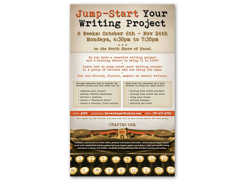 flyer ad design: Laura Lentz Jump-Start Writing