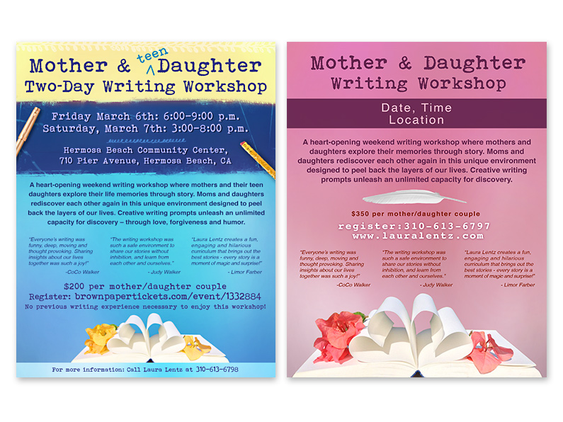 Poster: Mother/Daughter Writing  Workshops