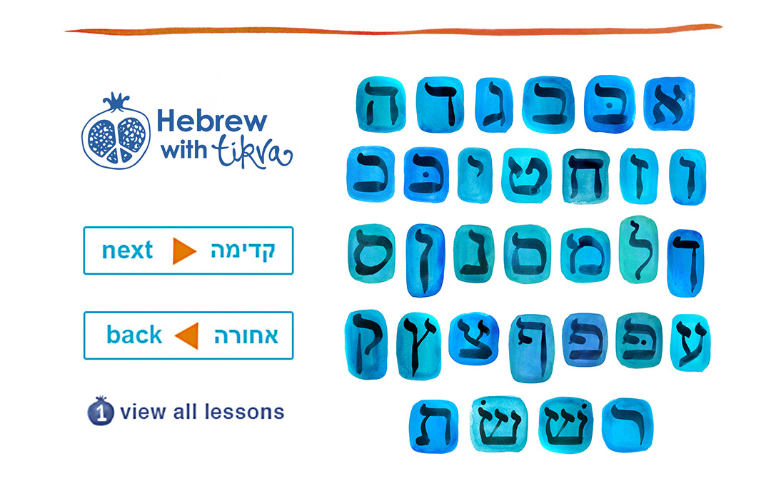 Hebrew with Tikva - art and brand elements by Limor Farber Design Studio
