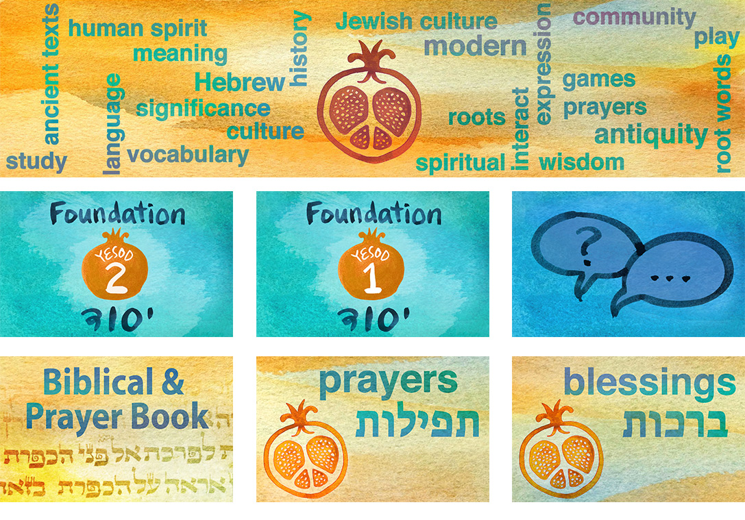 Hebrew with Tikva - class art by Limor Farber Design Studio