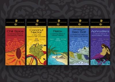 Indahphoria Chocolate | package design