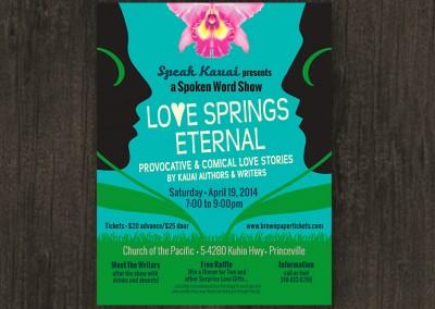 Love Springs Eternal | poster design