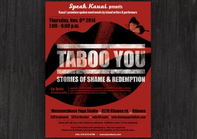 Taboo You | poster design