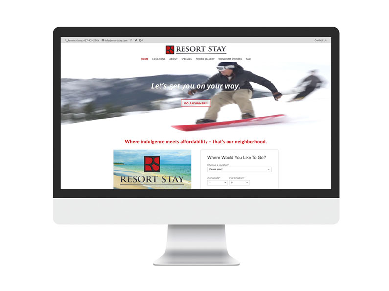 Resort Stay Website by Limor Farber Design Studio