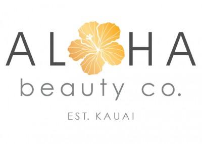 Aloha Beauty logo design by Limor Farber Design Studio